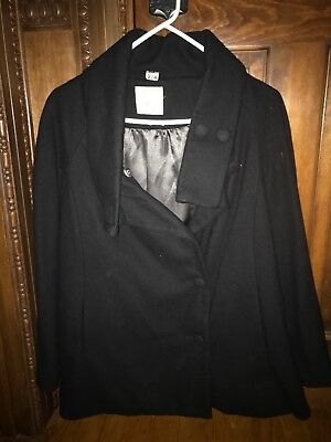 Old Navy MATERNITY Coat Jacket, Black SIZE Small