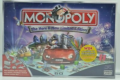 Monopoly The Here & Now Limited Edition Board Game- Hasbro Parker- New Sealed