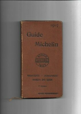 Guide Michelin 1907 Belgique Hollande bords du Rhin