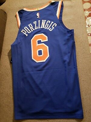 promo code e051a 5e321 NIKE NEW YORK Knicks Kristaps Porzingis Authentic Jersey sz 56 58 $200