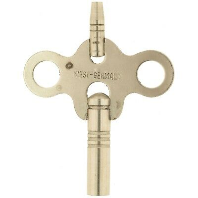 Antique Nickeled Steel Clock Winding Key #7 (3.8 mm) #5/0 (1.6 mm)