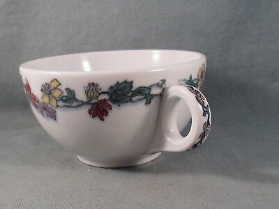 Vintage Shenango China,L.Barth & Co,Bouillon Cup,Double Handle,Flower Pattern