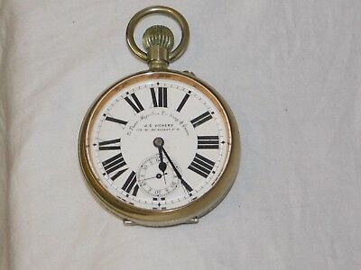 Antique Cased J C Vickery Swiss Goliath Pocket Watch in Good Working Order