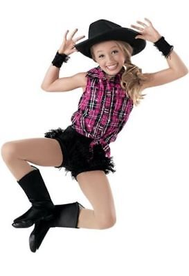 2 Weissman Girl's Size S 'some Days You Gotta Dance' Cowgirl Costumes Jazz Skate