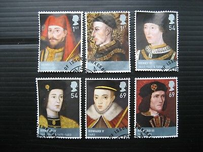Gb 2008 Kings & Queens (1St Issue) Full Set Sg2812/7 Very Fine Used Stamps