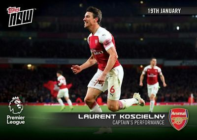 2018-19 Topps NOW Premier League 71 Laurent Koscielny Arsenal