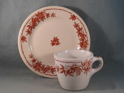 Vintage Shenango China Lunch Plate & Coffee Cup,Maple Leaves Restaurant Ware