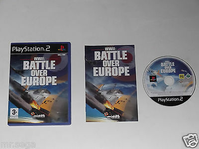 WWII BATTLE OVER EUROPE for PLAYSTATION 2 'RARE & HARD TO FIND'