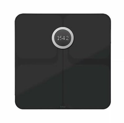 NEW Fitbit Aria 2 WiFi Smart Weight Scale Body Fat UpTo 400 Pounds FB202BK Black
