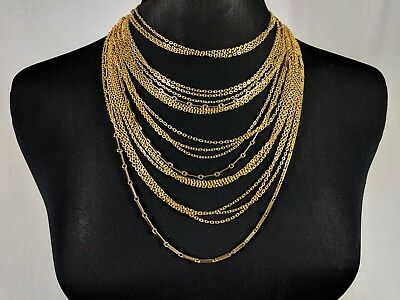 Lovely Vintage Gold-tone Multi-chain Link Necklace