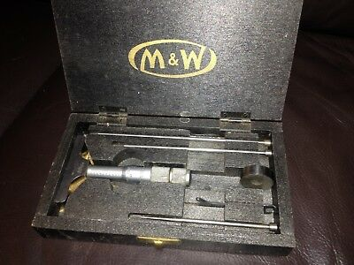 An old Moore and Wright M.G 56? Depth Gauge Micrometer 2.675 ins