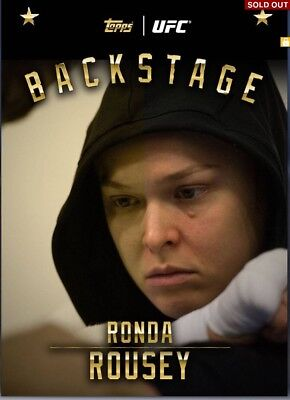 [DIGITAL] Topps UFC Knockout Card Ronda Rousey Backstage Award 54cc