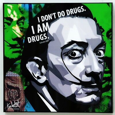 Salvador Dali ❤️ Pop Art canvas quote wall decals poster photo painting