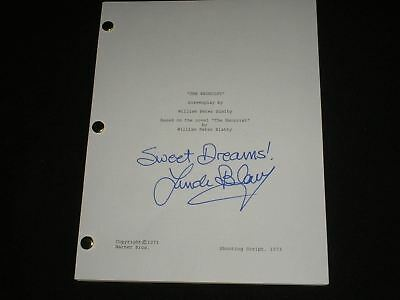 LINDA BLAIR Signed The Exorcist Full Movie SCRIPT Autographed Regan Sweet Dreams