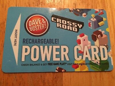 Dave & Buster's Power Card Crossy Road with very small balance