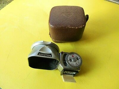 Vintage Rollei Light Meter Folding Into Rolleilux Hood Very Rare