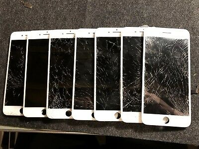 Lot (7) iPhone7 plus Screens Cracked Glass, LCD Tested good Oem Genuine