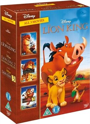 The Lion King Trilogy (DVD 3 DISC BOX SET) *NEW/SEALED* FREE P&P