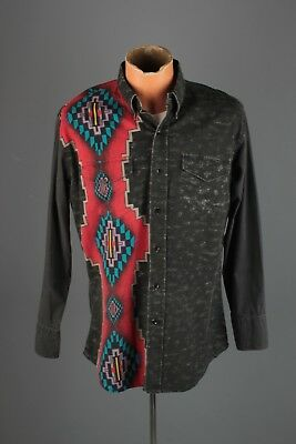 Vtg Men's 1990s Texas Sage Western Shirt Sz L 90s Country  #5262