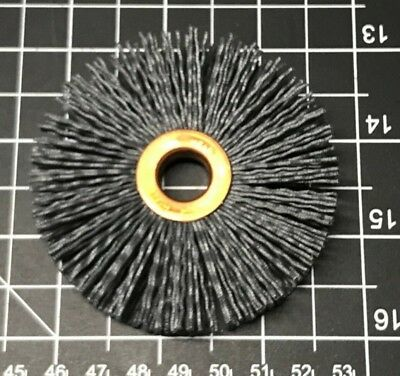 "Weiler 29088 Nylox Wheel, 3"" Dia., 0.35/180SC Crimped Fill, 1/2"" AH, Box of 10"