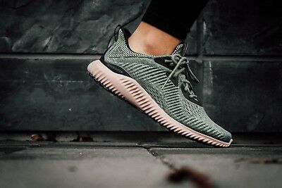 online retailer 1277e 1f511 NEW Adidas Alphabounce EM Mens Running Shoes Utility Ivy Green Gray BB9042