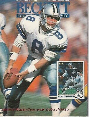 Beckett Football Monthly October 1991 Issue Troy Aikman Cover Lombardi Carrier