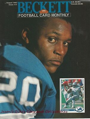 Beckett Football Monthly August 1991 Issue Barry Sanders Cover Lambert Thomas