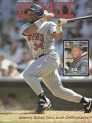 Beckett Baseball Card Monthly June 1992 Issue Kirby Puckett Cover Hank Aaron
