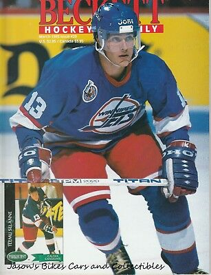 Beckett Hockey Monthly March 1993 Issue Teemu Selanne Cover Oates Smith Recchi