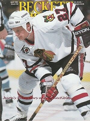 Beckett Hockey Monthly April 1992 Issue Jeremy Roenick Cover Lemieux Lidstrom