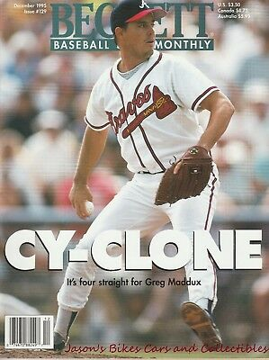 Beckett Baseball Card Monthly December 1995 Issue Greg Maddux Cover Cy Young HOF