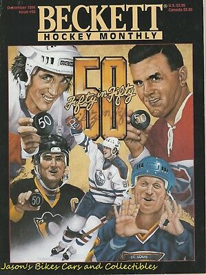 Beckett Hockey Monthly December 1994 Issue 50 in 50 Club Cover Richard Gretzky