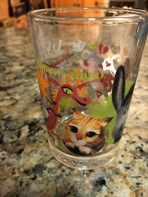 McDonalds, 2007, SHREK the THIRD Collectors Glass, Donkey & Puss-in-Boots