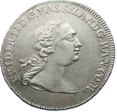1766 GERMANY German States HESSE-CASEL Friedrich II Genuine Silver Coin i74861