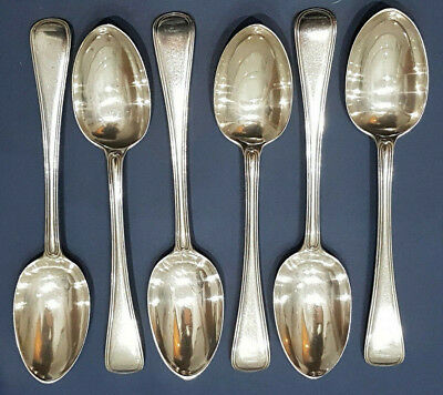 Six heavy Solid Silver desert spoons George Angell London 1869, 206grams