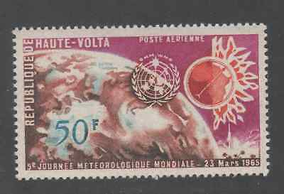 HAUTE VOLTA 1965 N°161 Earth, Gyrocompass Map of Africa