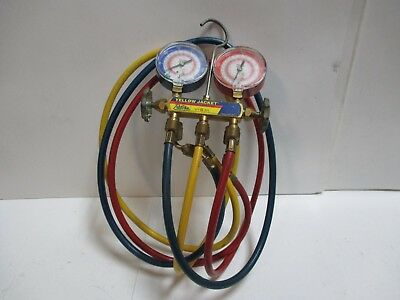 Yellow Jacket 2-Valve Test and Charging Manifold w/ Hoses