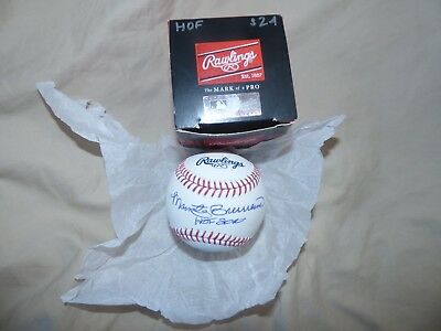 Marty Brennaman Signed Autographed HOF Baseball SNOW WHITE Cincinnati Reds