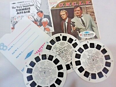 Vintage 1966 Man From UNCLE Sawyers Viewmaster 3 Reels, 21 Photos B484 Booklet