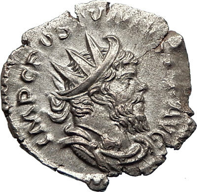 POSTUMUS Authentic Ancient GALLIC Roman 263AD Silver Coin PROVIDENTIA i74865