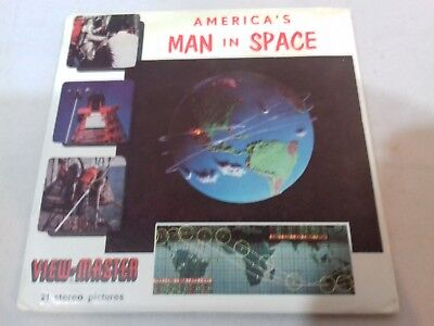 view-Master B657, Vintage America's Man in Space, 3 Reel Set-COMPLETE FROM 1962