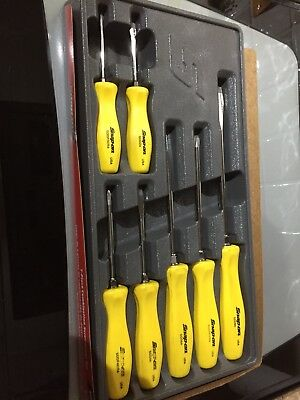 Snap On Yellow 7 Piece Screw Driver Set Excellant Condition Boxed