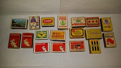 Collection of 18 Vintage Matchboxes