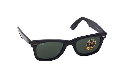 43b71128ef New Authentic Ray-Ban Wayfarer Sunglasses RB 2140 901 Black 50mm Medium G15  Lens