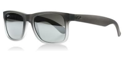 232c6853ce675 New Authentic Ray-Ban Justin Sunglasses RB 4165 852 88 5mm Transparent Grey