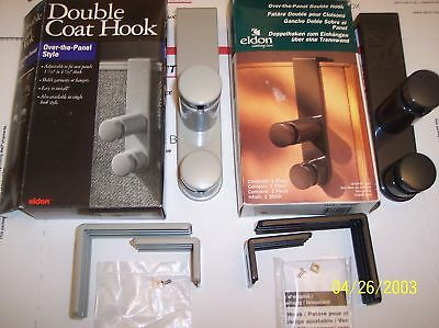OVER THE PANEL DOUBLE HOOK by ELDON   -NEW 2441-82 Lite Gray