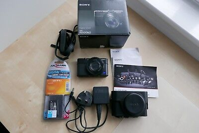 Sony cyber shot rx100 ii digital camera,  with extras.