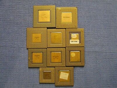 ( Lot of 10 ) Ceramic high yield CPU Processors for Scrap Gold Recovery Only