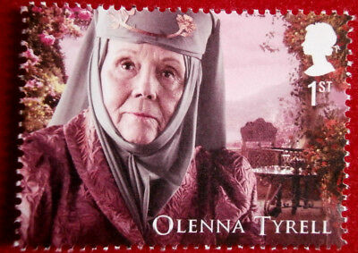 Game of Thrones: OLENNA TYRELL - FIRST CLASS ROYAL MAIL STAMP - MINT