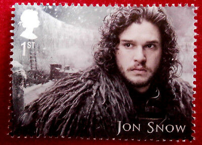 Game of Thrones: JON SNOW - FIRST CLASS ROYAL MAIL STAMP - MINT